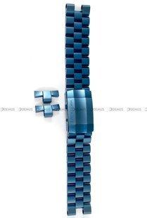 Bransoleta stalowa do zegarka Vostok Lunokhod - 25 mm - niebieska