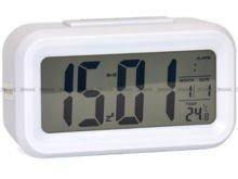Budzik cyfrowy z termometrem Xonix GHY-510-White - 8x14 cm