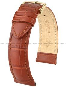 Pasek skórzany do zegarka - Hirsch Duke 01028070-1-19 - 19 mm - L