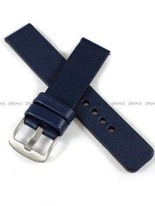 Pasek skórzany do zegarka lub smartwatcha - moVear WQU0C010000SLBM22NB - 22 mm