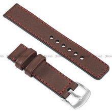 Pasek skórzany do zegarka lub smartwatcha - moVear WQU0C01RE00SLBM26B1 - 26 mm
