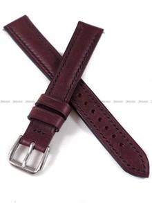 Pasek skórzany ręcznie robiony A. Kucharski Leather - Conceria Puccini Uragano - burgundy/black 16 mm