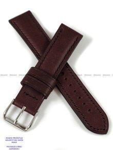 Pasek skórzany ręcznie robiony A. Kucharski Leather - Conceria Puccini Uragano - burgundy/black 18 mm