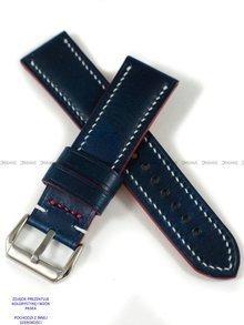Pasek skórzany ręcznie robiony A. Kucharski Leather - Conceria Walpier Buttero - blue/white 20 mm