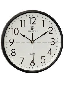Zegar ścienny Perfect FX-5742 Czarny - 26 cm