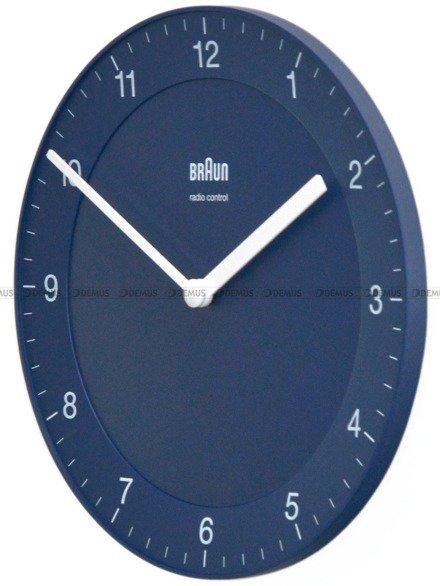 Mały zegar ścienny Braun BC06BL-DCF - sterowany radiowo