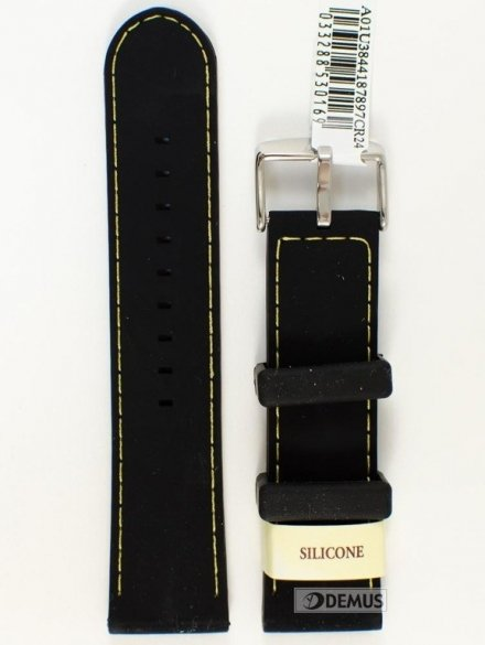 Pasek do zegarka silikonowy - Morellato A01U3844187897 24mm