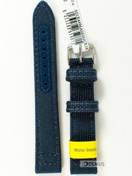 Pasek do zegarka wodoodporny materiałowy - Morellato A01X4496A06064 18mm