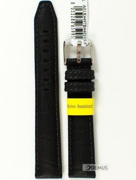 Pasek do zegarka wodoodporny skórzany - Morellato A01X4497B44019 18mm