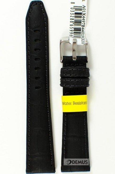 Pasek do zegarka wodoodporny skórzany - Morellato A01X4497B44019 20mm