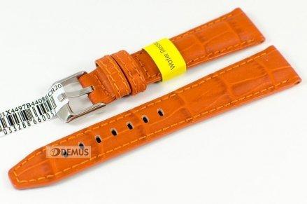 Pasek do zegarka wodoodporny skórzany - Morellato A01X4497B44086 20mm