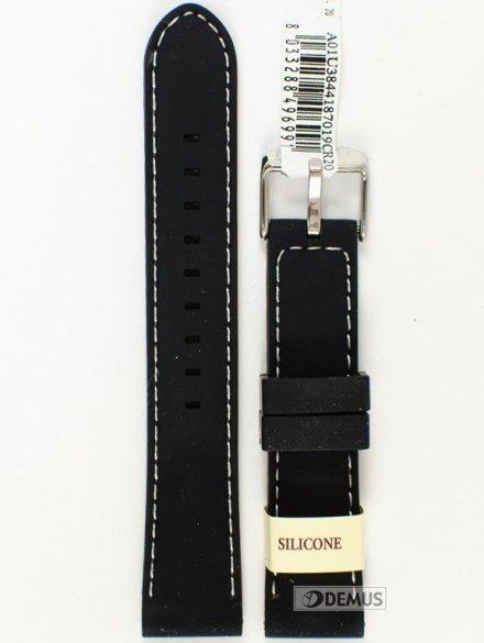 Pasek gumowy do zegarka - Morellato A01U3844187019 20mm