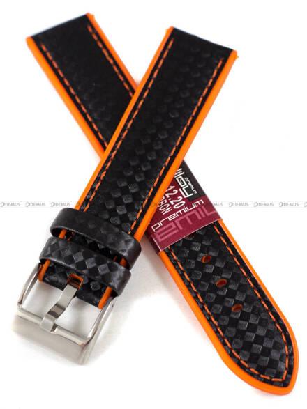 Pasek silikonowo-karbonowy do zegarka - Diloy 400.20.1.12 - 20 mm