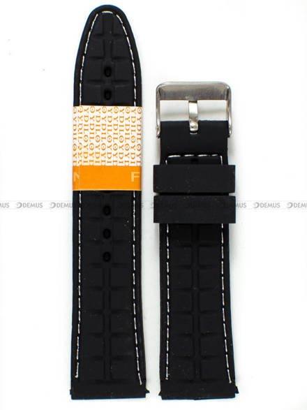 Pasek silikonowy Diloy do zegarka - SBR22.22.1.22 - 22 mm