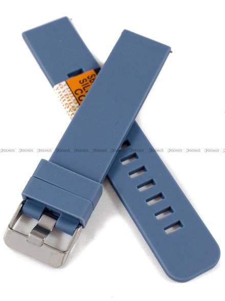 Pasek silikonowy Diloy do zegarka - SBR40.20.5 - 20 mm