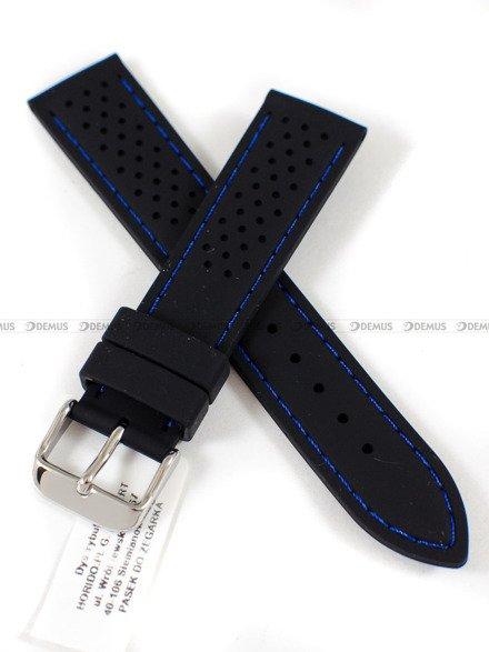 Pasek silikonowy do zegarka - Horido 0015.01B.20S - 20 mm