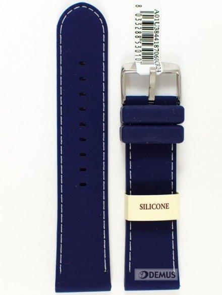 Pasek silikonowy do zegarka - Morellato A01U3844187060 24mm