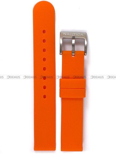 Pasek silikonowy do zegarka Nautica NAI09500M - 16 mm