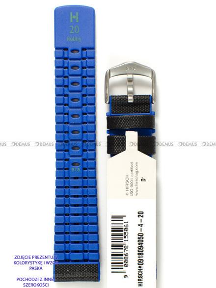 Pasek skórzano-kauczukowy do zegarka - Hirsch Robby 0918094050-4-24 - 24 mm