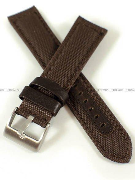Pasek skórzano-nylonowy do zegarka - Pacific W34.22.3.3 - 22 mm