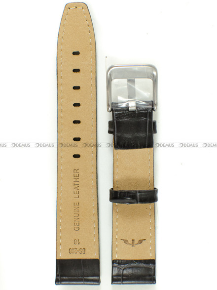 Pasek skórzany do zegarka Bisset - BS-208 - 18 mm - XL