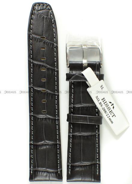 Pasek skórzany do zegarka Bisset - BS-208 - 22 mm - XL