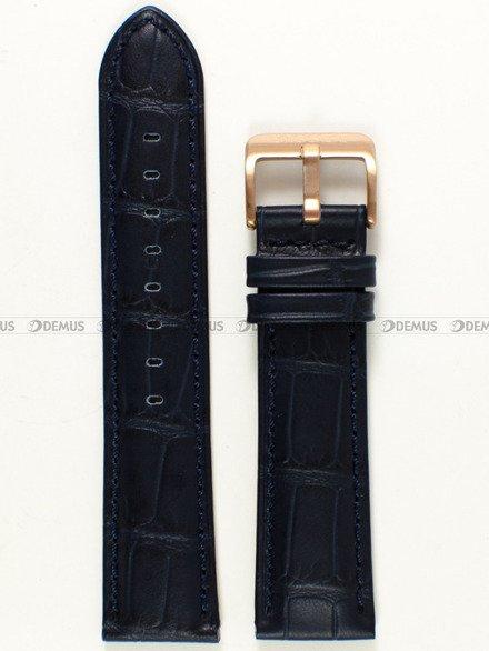 Pasek skórzany do zegarka Bisset BSCE35 - ABP/E35-Blue - 22 mm