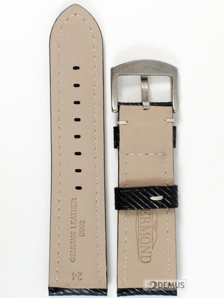 Pasek skórzany do zegarka - Chermond B002.24.1 - 24mm