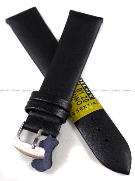 Pasek skórzany do zegarka - Diloy 301.20.1 - 20 mm