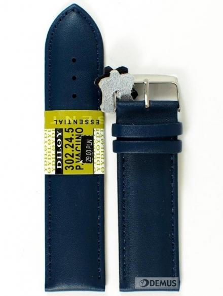 Pasek skórzany do zegarka - Diloy 302.24.5 - 24mm