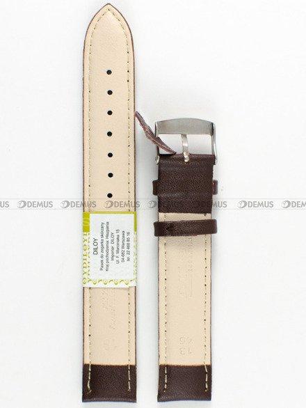 Pasek skórzany do zegarka - Diloy 302EL.18.2 18mm
