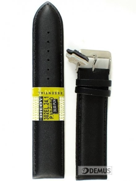 Pasek skórzany do zegarka - Diloy 302EL.24.1 24mm