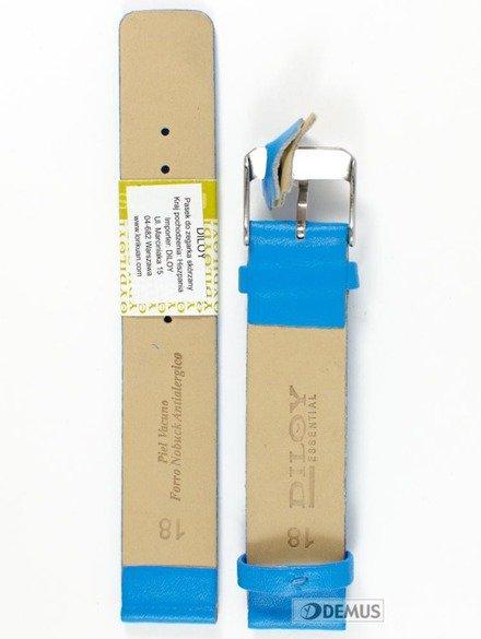 Pasek skórzany do zegarka - Diloy 327.18.19 - 18mm