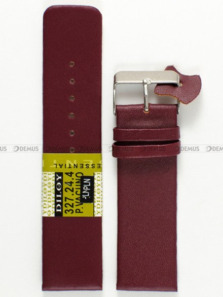Pasek skórzany do zegarka - Diloy 327.24.4 - 24mm