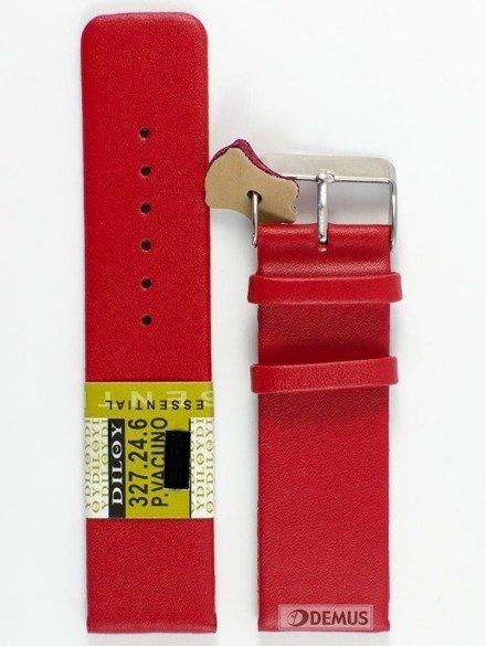Pasek skórzany do zegarka - Diloy 327.24.6 - 24 mm