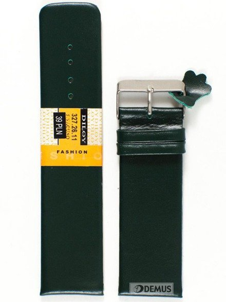 Pasek skórzany do zegarka - Diloy 327.26.11 - 26mm