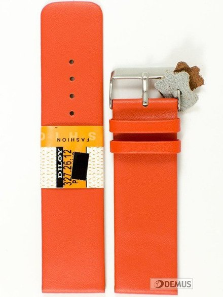 Pasek skórzany do zegarka - Diloy 327.26.12 - 26mm