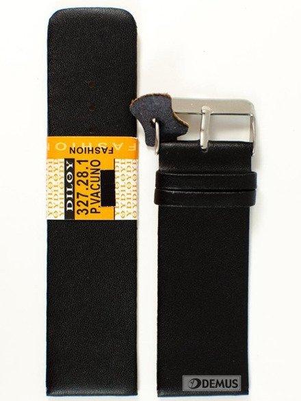Pasek skórzany do zegarka - Diloy 327.28.1 28mm