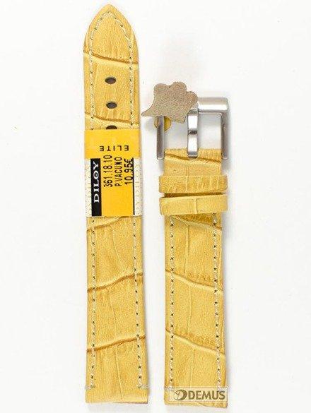 Pasek skórzany do zegarka - Diloy 361.18.10 - 18mm