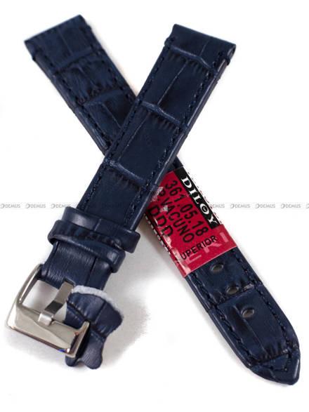 Pasek skórzany do zegarka - Diloy 361.18.5 - 18 mm