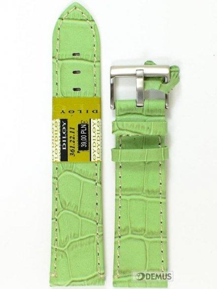 Pasek skórzany do zegarka - Diloy 361.22.11 - 22mm