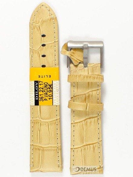 Pasek skórzany do zegarka - Diloy 361.22.17 - 22mm