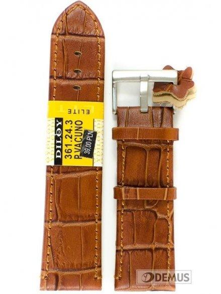 Pasek skórzany do zegarka - Diloy 361.24.3 - 24mm