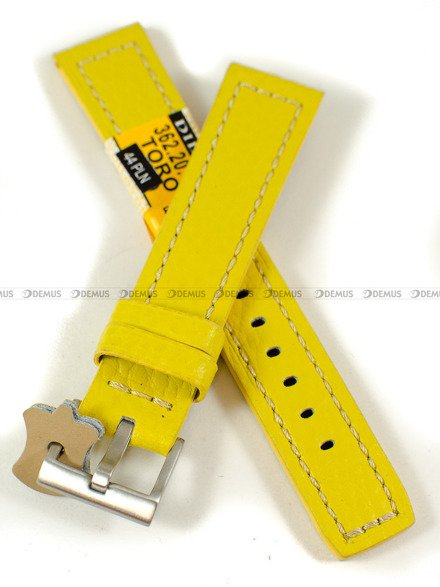 Pasek skórzany do zegarka - Diloy 362.20.10 - 20 mm