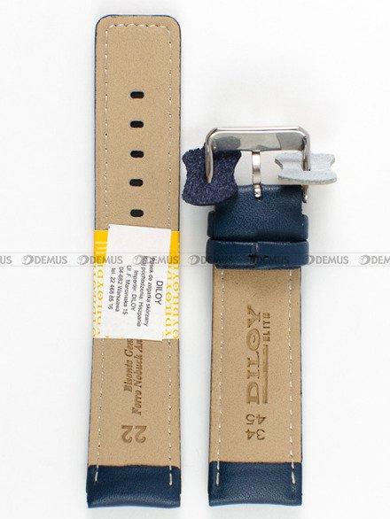 Pasek skórzany do zegarka - Diloy 367.22.5 - 22mm