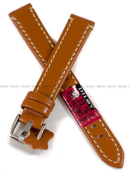 Pasek skórzany do zegarka - Diloy 373.16.3 - 16 mm