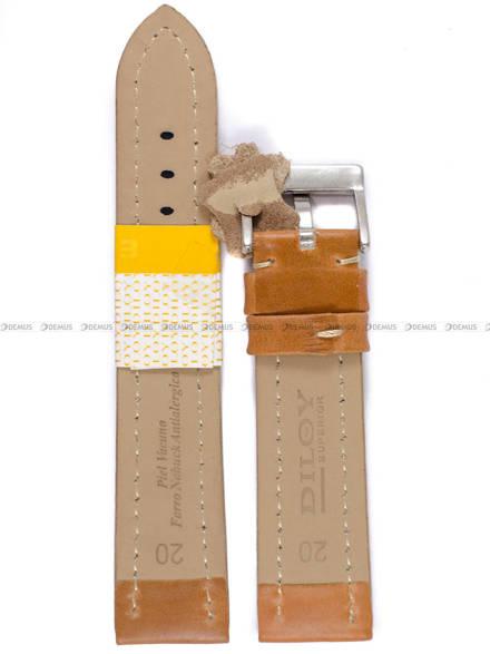 Pasek skórzany do zegarka - Diloy 377.20.3 - 20 mm