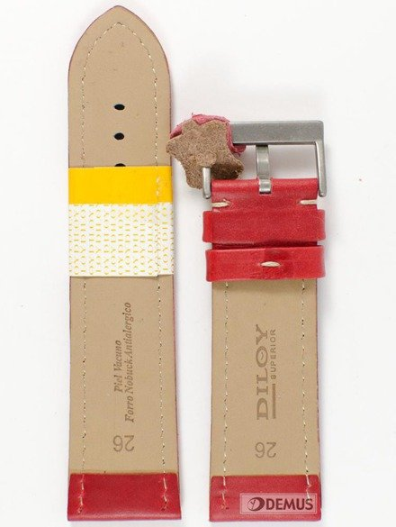 Pasek skórzany do zegarka - Diloy 377EA.26.6 - 26 mm