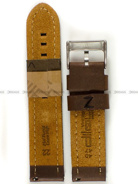 Pasek skórzany do zegarka - Diloy 384.22.2.1 - 22 mm