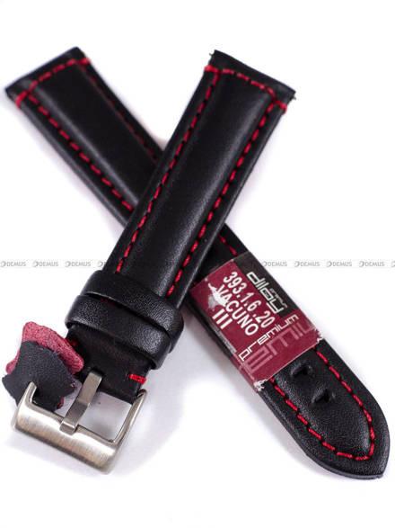 Pasek skórzany do zegarka - Diloy 393.20.1.6 - 20 mm